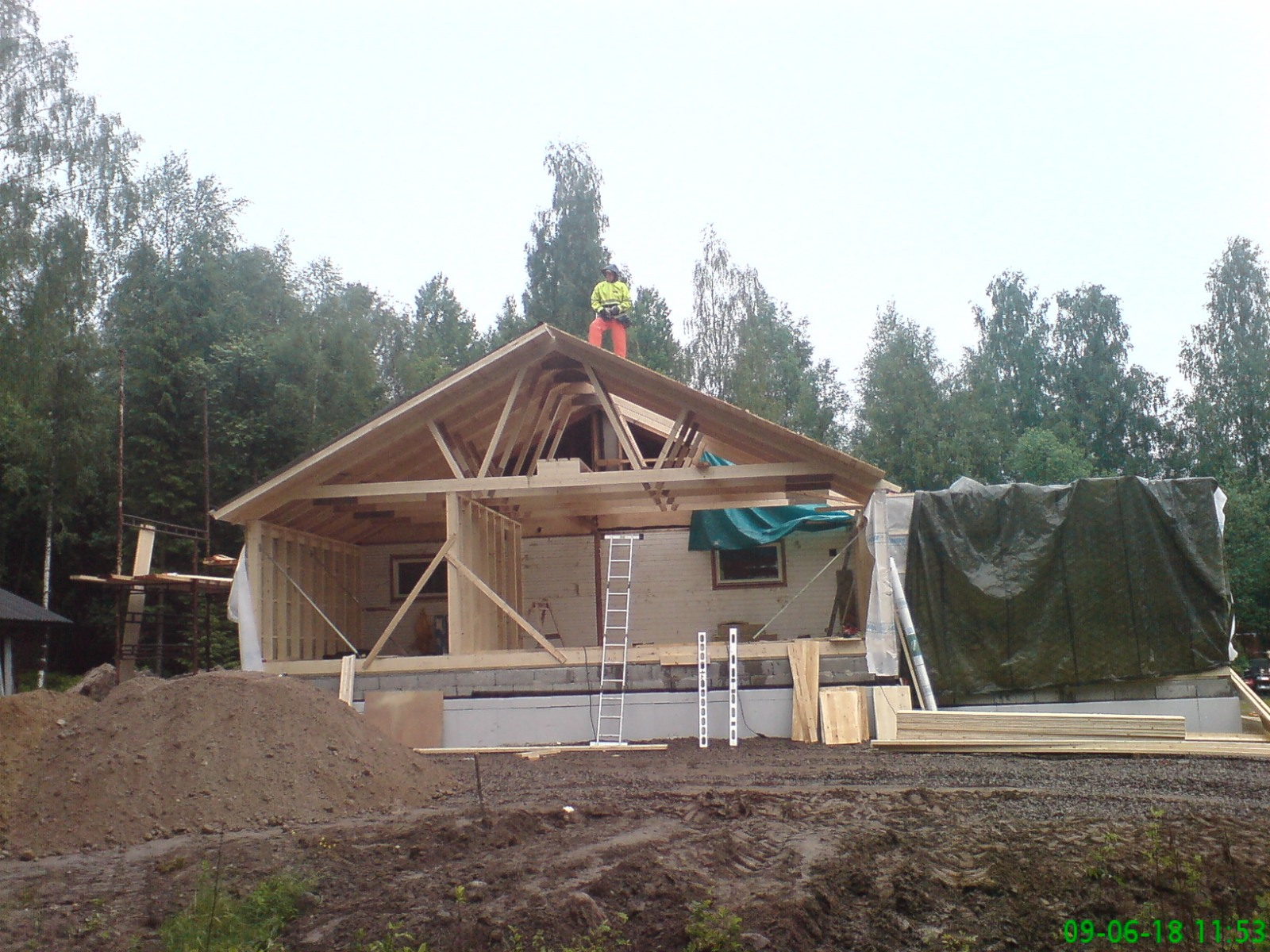 Tillbyggnad av ett hus i Ransby