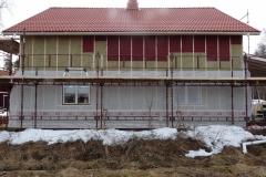 Tillägsisolering av ett hus i Särna